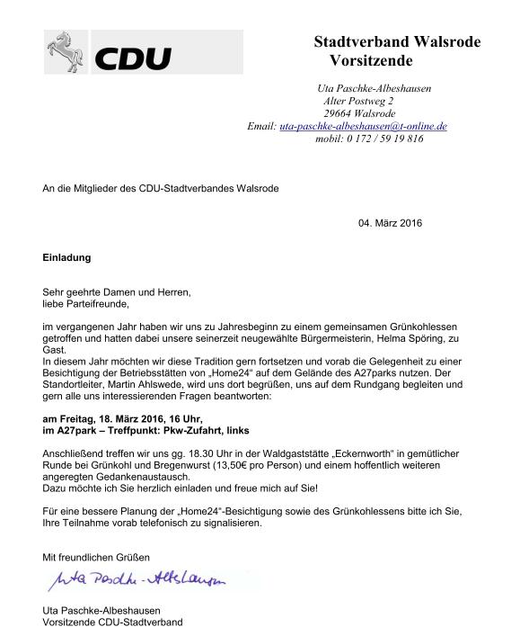 Cdu Stadtverband Walsrode Besichtigung